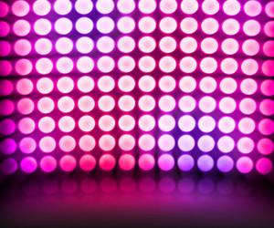 Violet Dance Disco Lights Stage Background