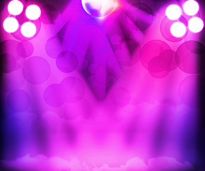 Violet Disco Stage Spotlight Background