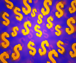 Violet Dollars Background