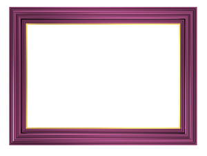 Violet Frame Isolated On White Background.