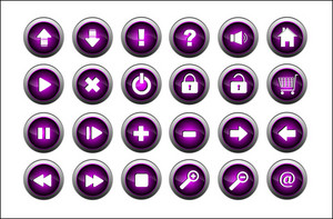 Violet Glossy Buttons