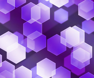 Violet Hex Bokeh Background
