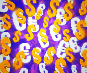 Violet Money Background