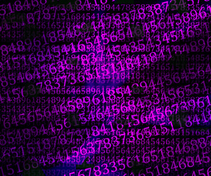 Violet Numbers Abstraction Background