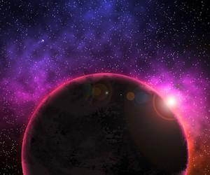 Violet Planet Background