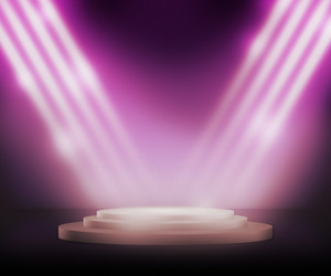 Violet Podium Spotlight Background