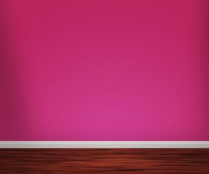 Violet Room With Wooden Floor Background