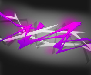 Violet Spiky Abstract Background