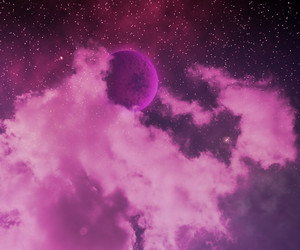 Violet Stars On Sky Abstract Space Background