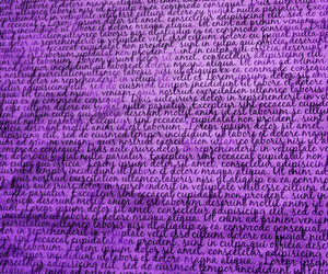 Violet Typography Background Texture