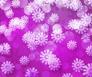 Violet Winter Bokeh Snow Background