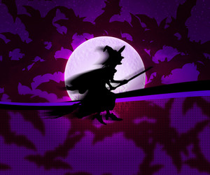 Violet Witch Halloween Background