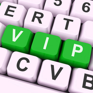 Vip Key Means Dignitary Or Very Important Person