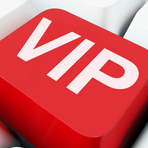 Vip Keys Show Influential Of Very Important Person