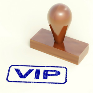 Vip Stamp Shows Celebrity Or Millionaire