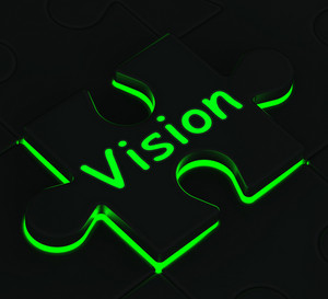 Vision Puzzle Showing Future And Destiny