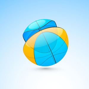 Volleyball Isolated On Blue Background