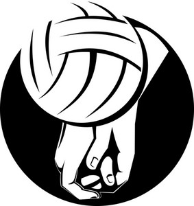 Volleyball Player Hitting Ball