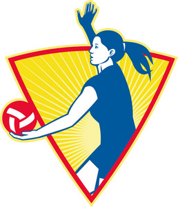 Volleyball Player Serve Ball Side