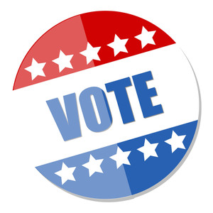 Vote Badge  Election Day Vector Illustration