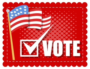 Vote Banner  Election Day Vector Illustration
