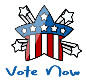 Vote Now Usa Theme Star  Election Day Vector Illustration