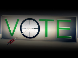 Vote Target Shows Choosing To Elect Option