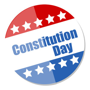 Voting Badge Style  Constitution Day Vector Illustration