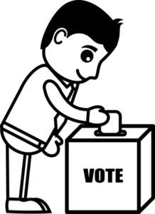 Voting - Cartoon Office Vector Illustration