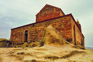 Ancient Orthodox Church in antique cave city Uplistsikhe