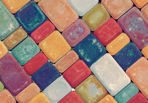 Abstract colorful stone tile background