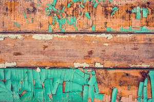 Vintage old wooden background with peeling paint