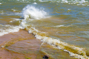 Merger of two seas. Cape Kolka