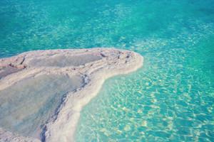 Texture of Dead sea. Salt sea shore