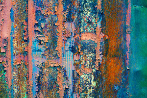 Abstract colorful rust surface background