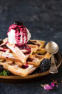 Waffles And Ice Cream