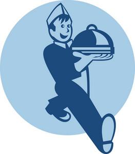 Waiter Cook Chef Baker Serving Food