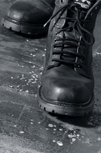 walking boots on the move