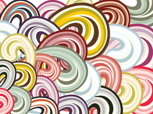 Wallpaer Of Colorful Spiral Pattern