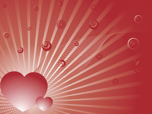 Wallpaper Brown Bubble And Heart Explosion