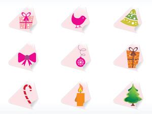 Wallpaper Of Christmas Sticker Vector