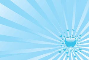 Wallpaper Sky Blue Heart Explosion