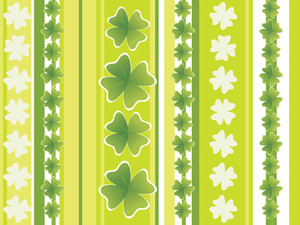 Wallpaper With Abstract Shamrock Panel Pattern  17 March