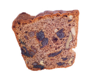 Walnuts And Raisins Cake Slice
