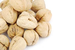 Walnuts On White