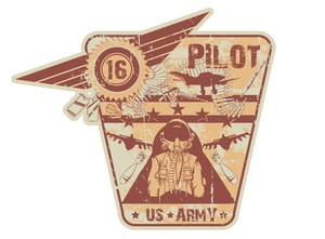 War Vintage Label Vector Illustration