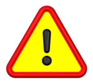 Warning Sign Isolated On White