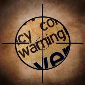 Warning Text On Target