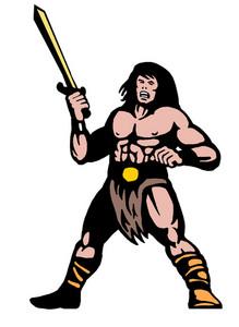 Warrior With Big Sword