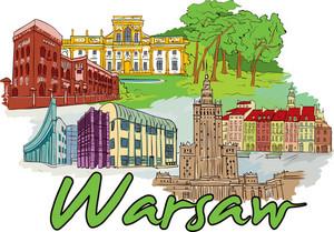 Warsaw Vector Doodle